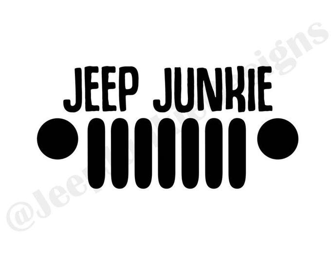 Jeep Junkie Grill - Custom Vinyl Decals