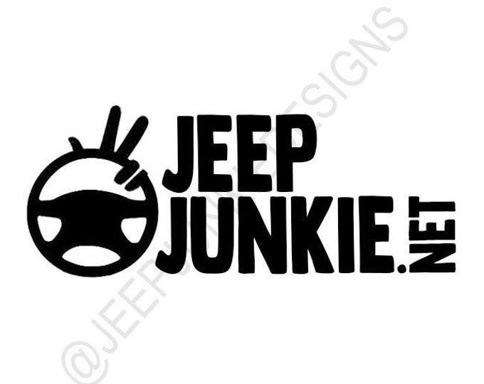 Jeep Junkie Jeep Wave Vinyl Decal