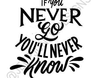 If You Never Go, You'll Never Know - Vinyl Decal