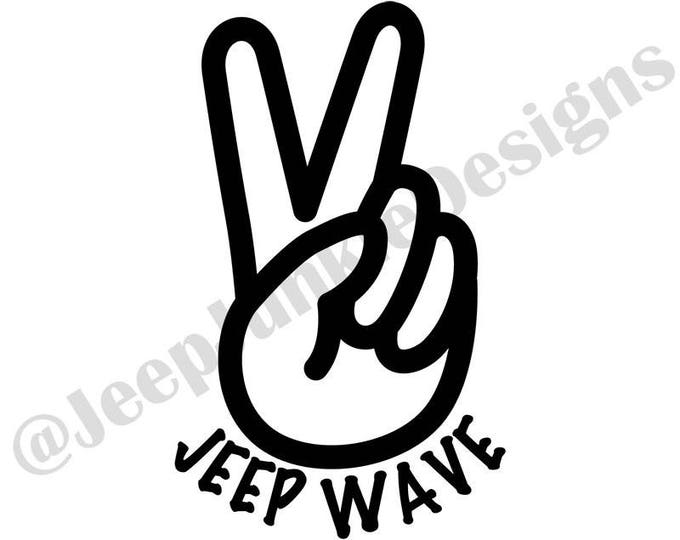 Jeep Wave Peace Sign - Custom Vinyl Decals