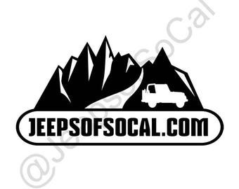 Jeeps of SoCal Mountains Vinyl Decal