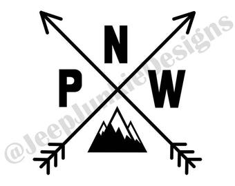 Pacific North West PNW Arrows - Custom Vinyl Decal