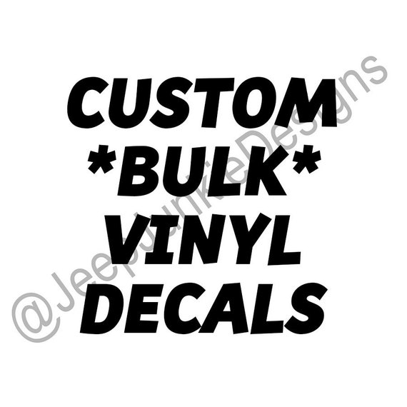 Custom BULK Vinyl Decals, Business Logos, Social Media Profiles, Marketing Decals, Business Vinyl Decals, Social Profile Decals, Vinyl Decal