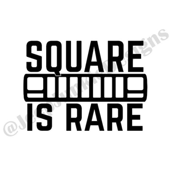 Square is Rare - Jeep Cherokee XJ Custom Vinyl Decals