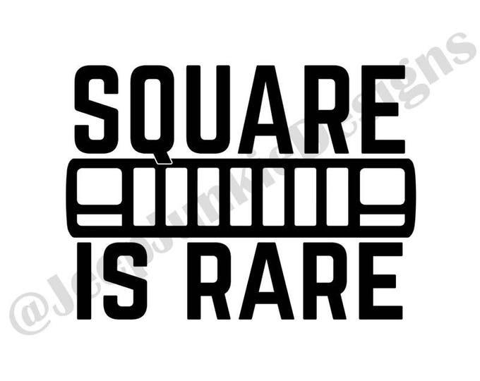 Square is Rare XJ Vinyl Decal