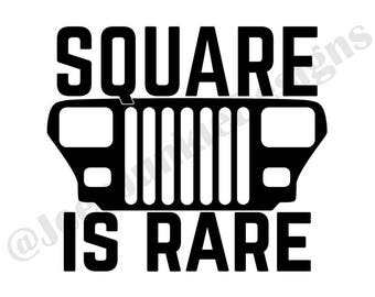 Square is Rare YJ Vinyl Decal