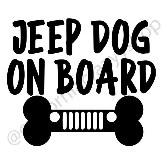 Jeep Dog(s) On Board - Custom Vinyl Decals
