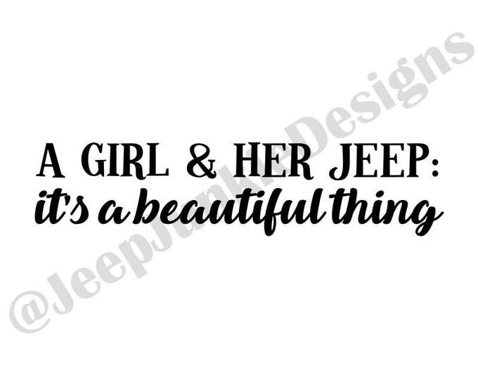 A Girl & Her Jeep Vinyl Decal