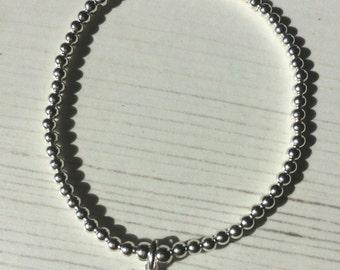 Sterling Silver Twitter Bracelet, Tweet, Twitter, Stacking Bracelet, Charm Bracelet, Ladies