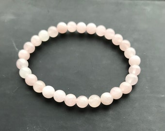 Rose Quartz Beaded Bracelet, Ladies Gift, Ladies Present, Anniversary, Birthday