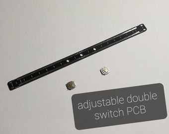 Double switch adjustable PCB for ligthsaber
