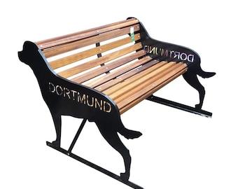 Strange Labrador Garden Bench A Unique Hand Crafted Bench With Ibusinesslaw Wood Chair Design Ideas Ibusinesslaworg