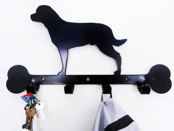 Rottweiler Dog Metal Tidy Lead Hooks