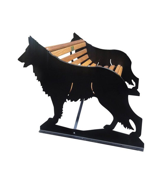 Astounding Hand Crafted German Shepherd Garden Bench A Unique Gift Which Can Also Be Personalised For Atouching Pet Memorial Machost Co Dining Chair Design Ideas Machostcouk