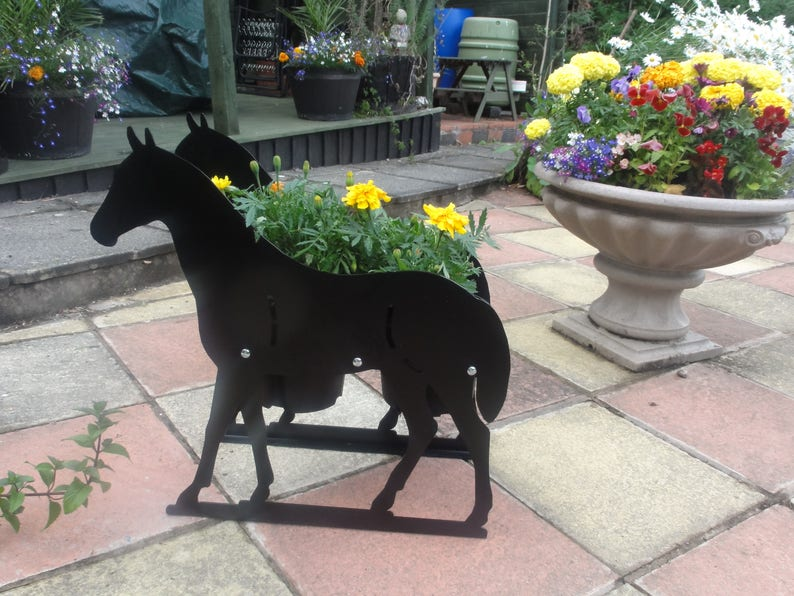 Horse Themed Garden Flowerpot Planter A Lovely Unique Gift With Option For Personalisation A Lovely Memorial And Garden  Feature