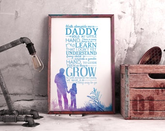 Walk With Me Daddy Etsy