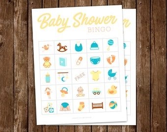 Baby Shower BINGO Game, Baby Shower Games, Printable Shower Game - DIY Printable PDF
