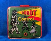 Vintage 1950 s Tin Toy Robot Part Masudaya R-35 remote Control Battery Cover