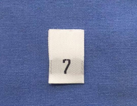 25Pcs White Taffeta Woven Clothing Letter Size Tab Tag Label Size S Small
