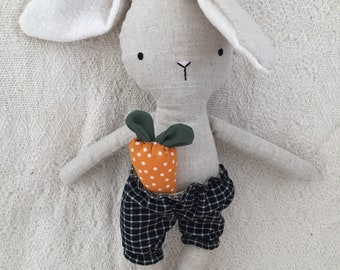 Large stuffed Bunny with carrot