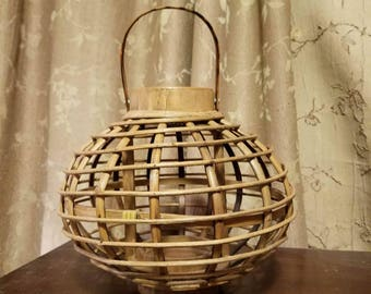Wooden Bamboo Candle Holder