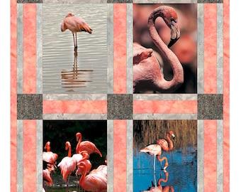 Flamingos Vertical Quilt Block Set