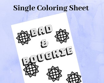 Adult Coloring Book Instant Download Digital Content Page Printables Swear Word Sheets