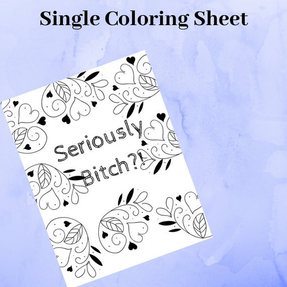 Adult Coloring Page, Instant Download, Digital Content, NSFW, Coloring  Printables, Swear Word Coloring Sheets, Adult Coloring