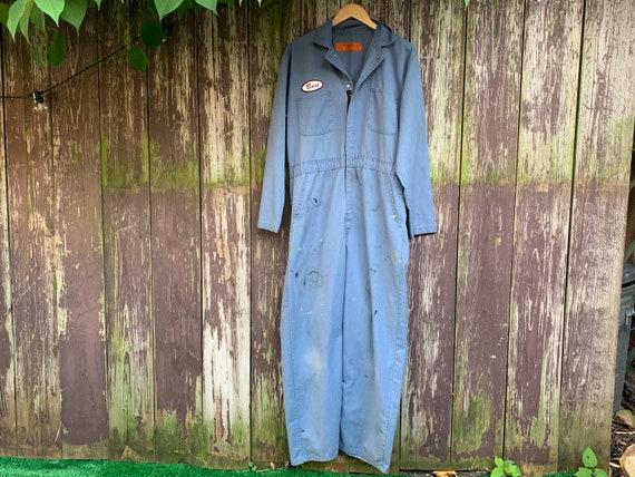 "Vintage Distressed ""BART"" Coveralls, Work suit Jum"
