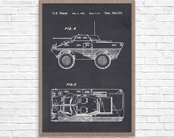 Car patent print classic car blueprint sports car poster car armored car poster car patent armored car poster car patent art boys room car blueprint wall art armored vehicle malvernweather Choice Image