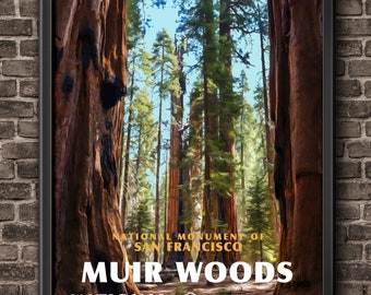 0f62e5ab0 Muir woods poster | Etsy