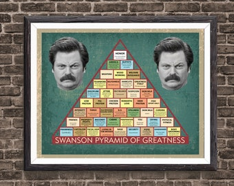 Enterprising image with regard to ron swanson pyramid of greatness printable version