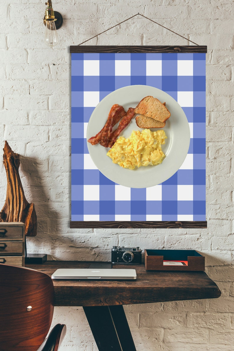 Ron Swanson Breakfast Canvas Art Gift for Long Distance Friend gift with Magnetic Hanging Frame