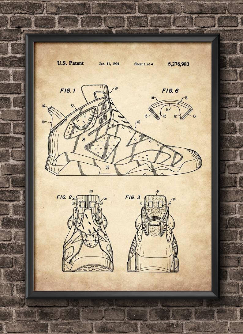 huge selection of 0b260 a8457 Nike Air Jordan Patent Print Sneaker Art Sneaker Poster   Etsy