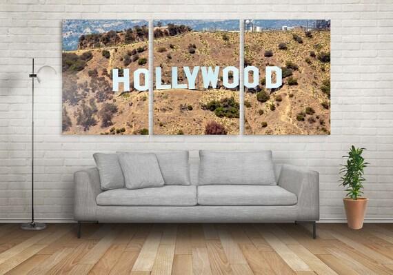 Hollywood Decor Hollywood Art 3 Panel Hollywood Wall Art | Etsy