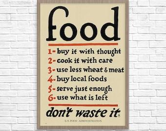 WPA Food Poster, Food Art, Kitchen Art, WPA Poster, WPA Art, Kitchen Poster, Kitchen Wall Art, Kitchen Decor, Kitchen Print