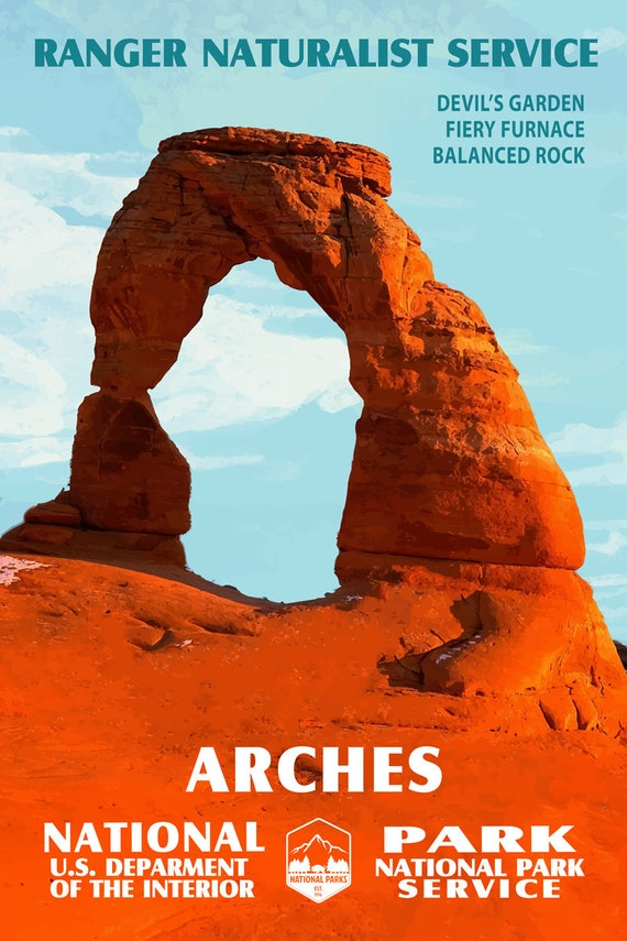 Arches National Park National Parks Gift National Parks Art Arches Placemat