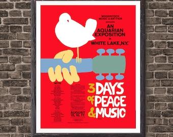 Woodstock Music Gift 1969 Concert Poster