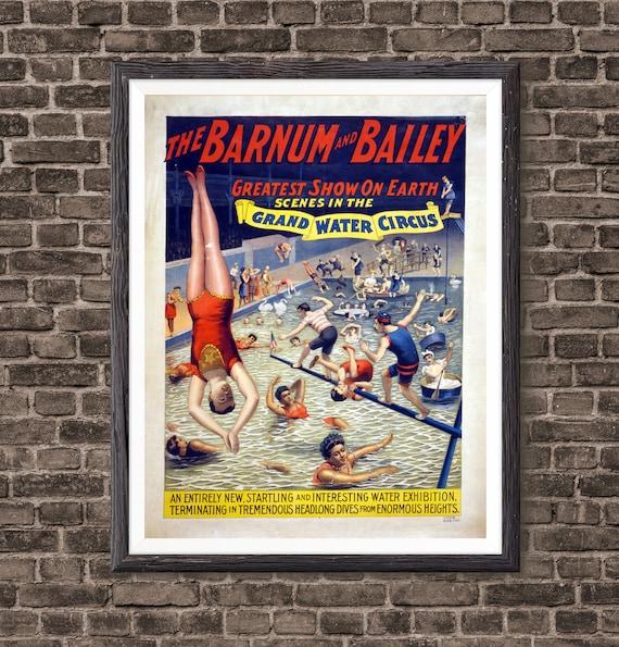 Freak Show Vintage Circus Circus Poster Creepy Carnival Etsy