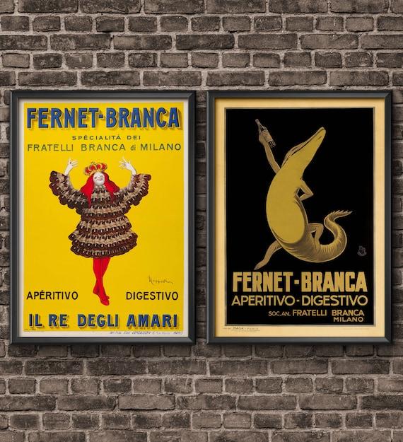 Fernet Branca Aperitivo Digestivo Milan Italy Drink Vintage Poster Repro FREE SH
