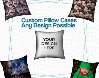 Mens Custom Pillow Case - Mens Personalized Pillow Cover - Womens Custom  Pillow Case - Womens Personalized Pillow Cover - Custom Pillow Sham 6c97134e48