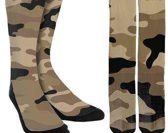 26bbe777a Camouflage Crew Socks - Unique Socks - Mens Clothing - Womens Clothing -  Novelty Socks - Cool Socks - Camouflage Socks - FREE Shipping G07