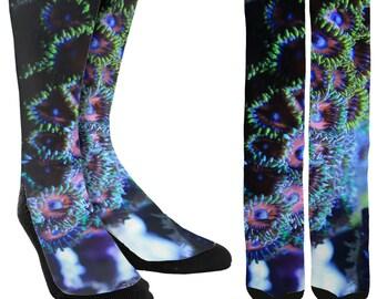 Ocean Reef Crew Socks - Fishing Socks - Sailing Socks - Unique Socks - Novelty Socks -Mens Socks -Womens Socks -Clothing - FREE Shipping F08