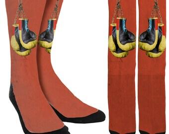 Boxing Glove Socks - Boxing Socks - Crazy Socks - Mens Novelty Socks - Womens Novelty Socks -Socks for Men -Unique Socks - FREE Shipping I19