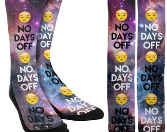 No Days Off - Exercise Socks - Fitness Socks - Crazy Socks - Novelty Socks -Unique Socks -Socks for Men -Socks for Women - FREE Shipping A55