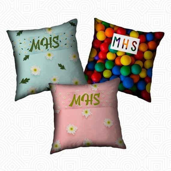 Womens Custom Monogram Pillow Case Womens Personalized Pillow  8269241e5