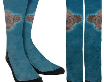Ocean Socks - Mens Novelty Socks - Womens Novelty Socks - Crazy Socks - Unique Socks - Novelty Socks -Cool Socks-Clothing -FREE Shipping A38