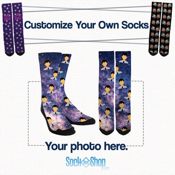 ccc9758aa441 Custom Galaxy Socks Custom Space Socks Your Face On Galaxy