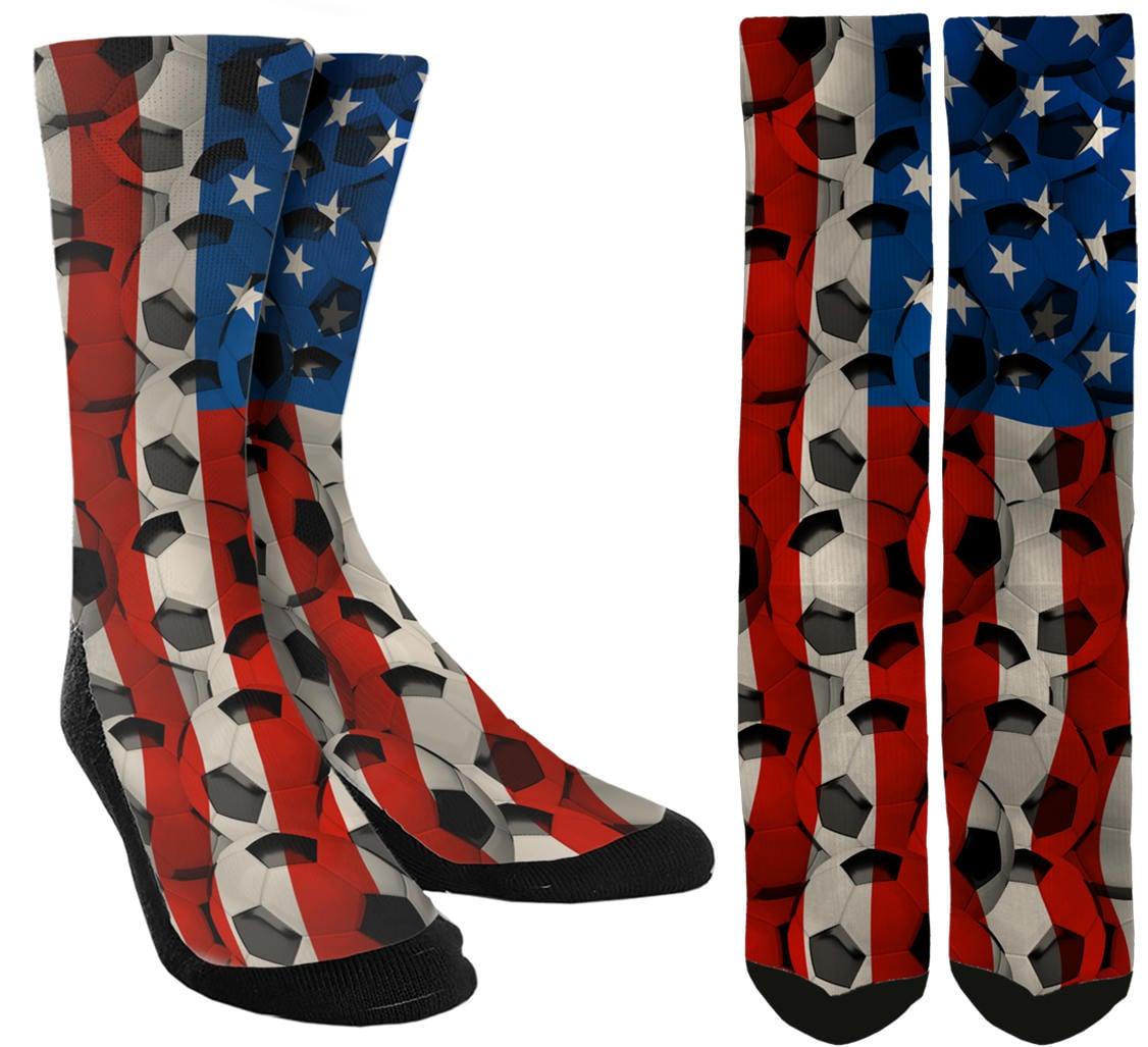 44cd617952ce USA Soccer Crew Socks USA Socks Soccer Socks Socks for