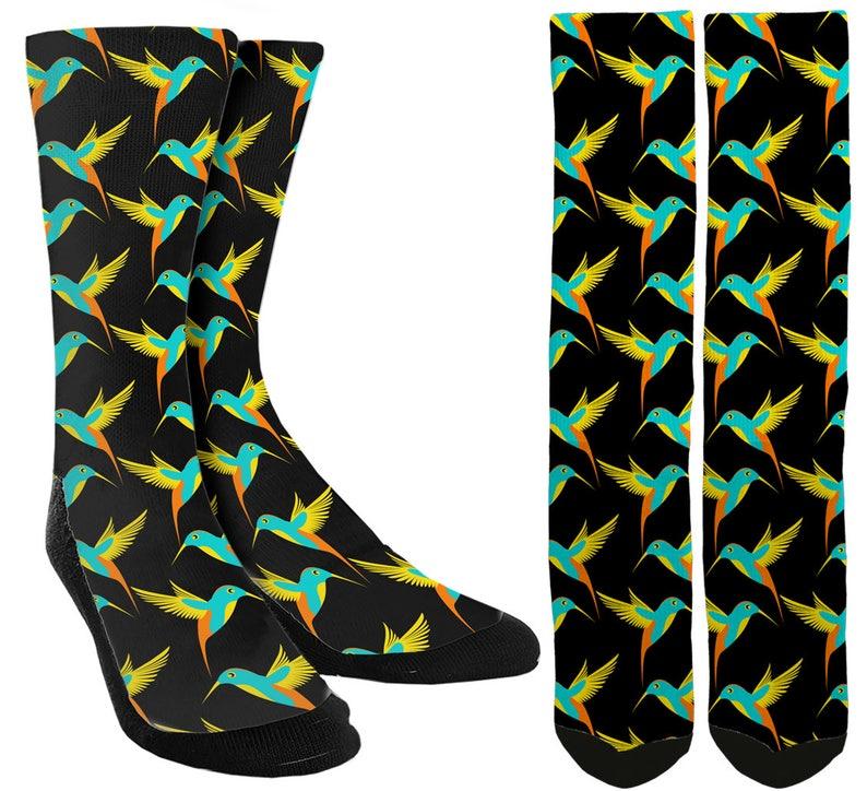 32d136c7948b2 Birds Crew Socks Bird Socks Cute Socks Unique Socks | Etsy